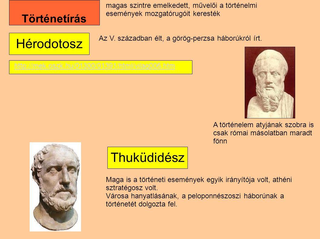 Hérodotosz Thuküdidész Történetírás