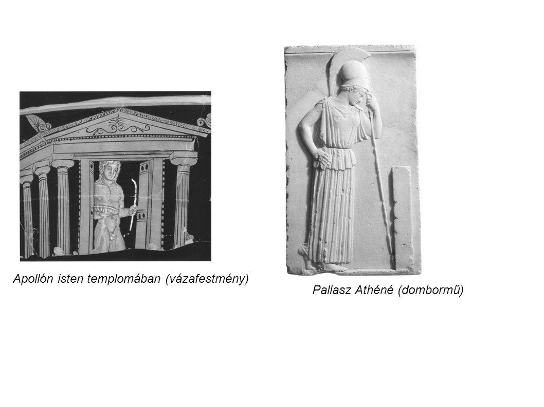 Apollón isten templomában (vázafestmény)