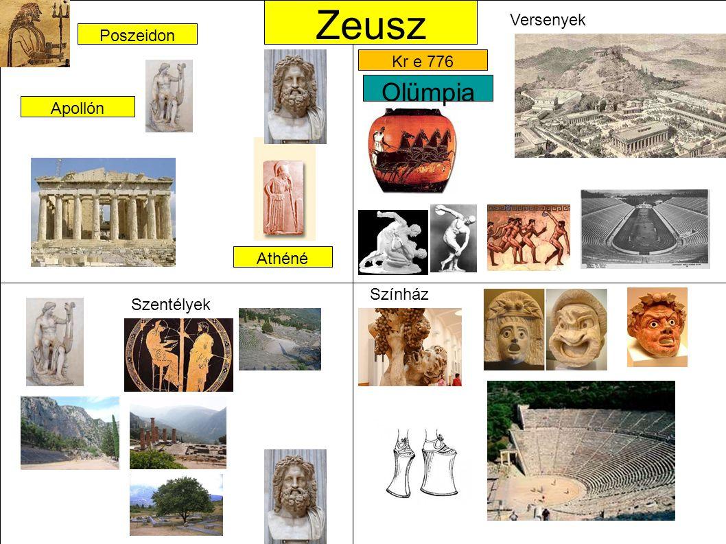 Zeusz Olümpia Versenyek Poszeidon Kr e 776 Apollón Athéné Színház