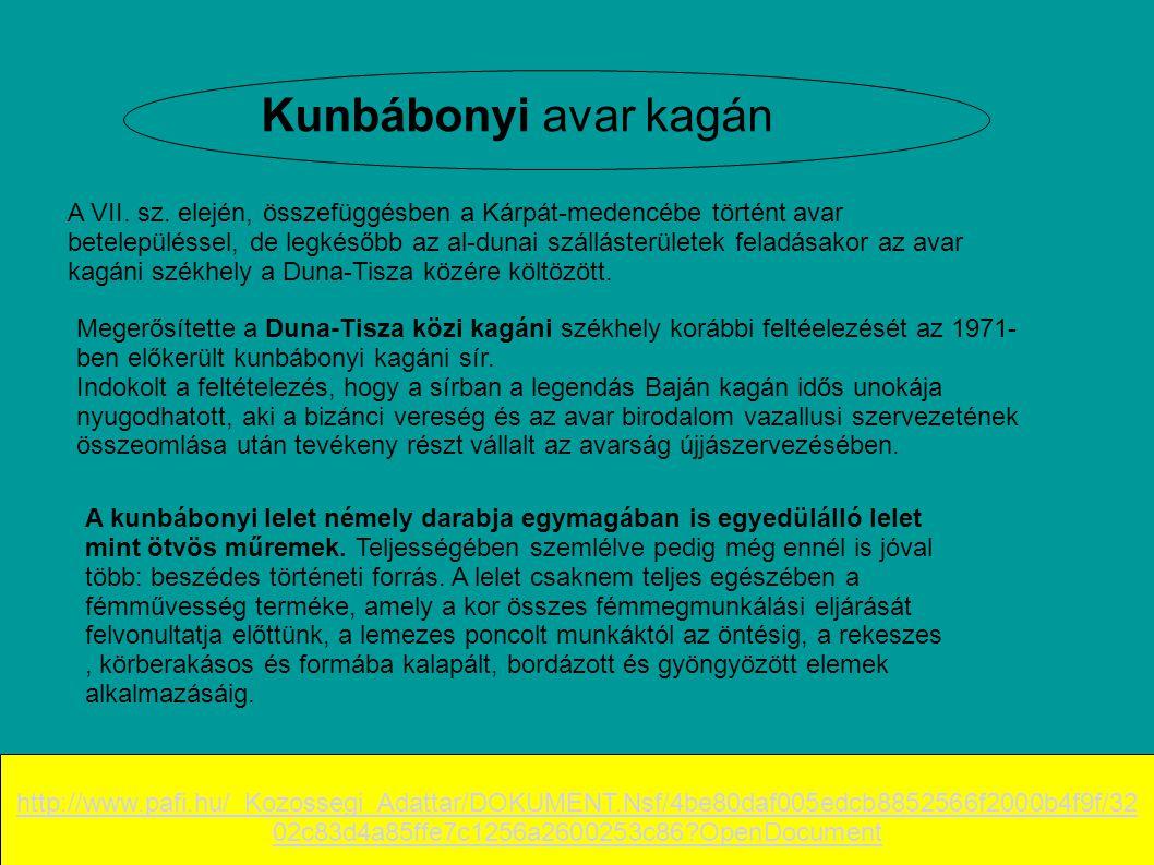 Kunbábonyi avar kagán