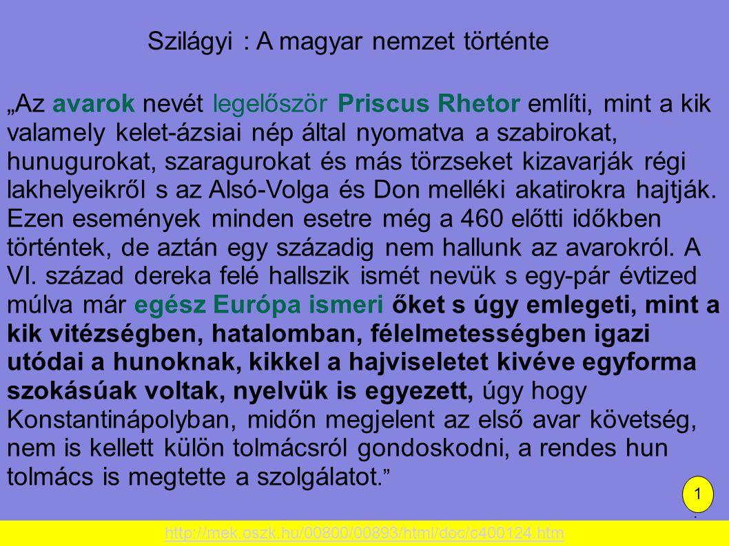 Szilágyi : A magyar nemzet történte
