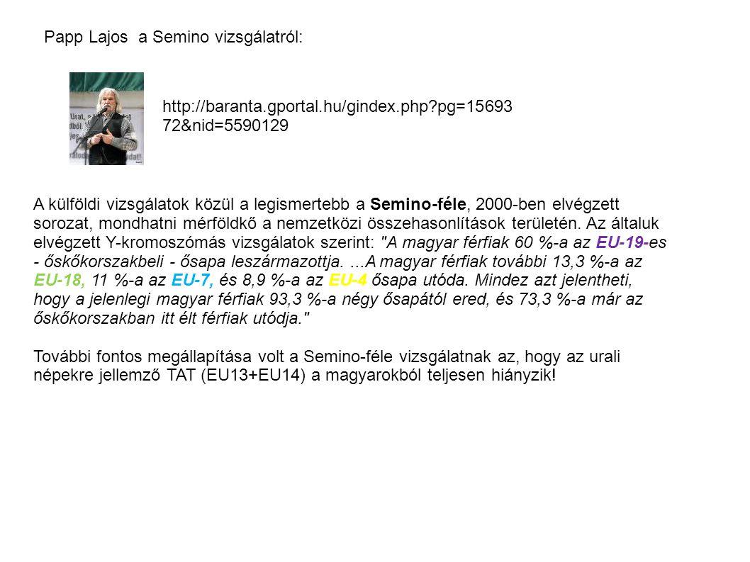 Papp Lajos a Semino vizsgálatról: