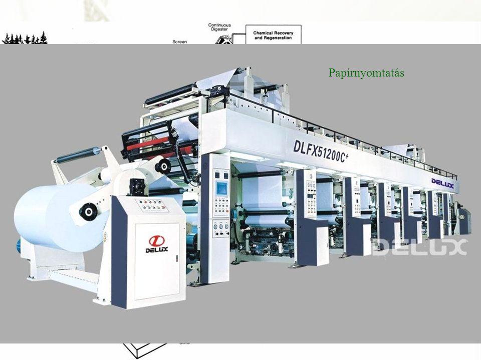 A bemenetek fajtái Papírnyomtatás. Papírgyártás.