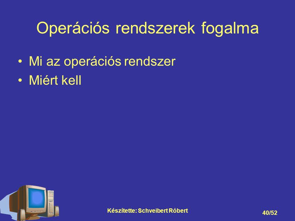 Operációs rendszerek fogalma