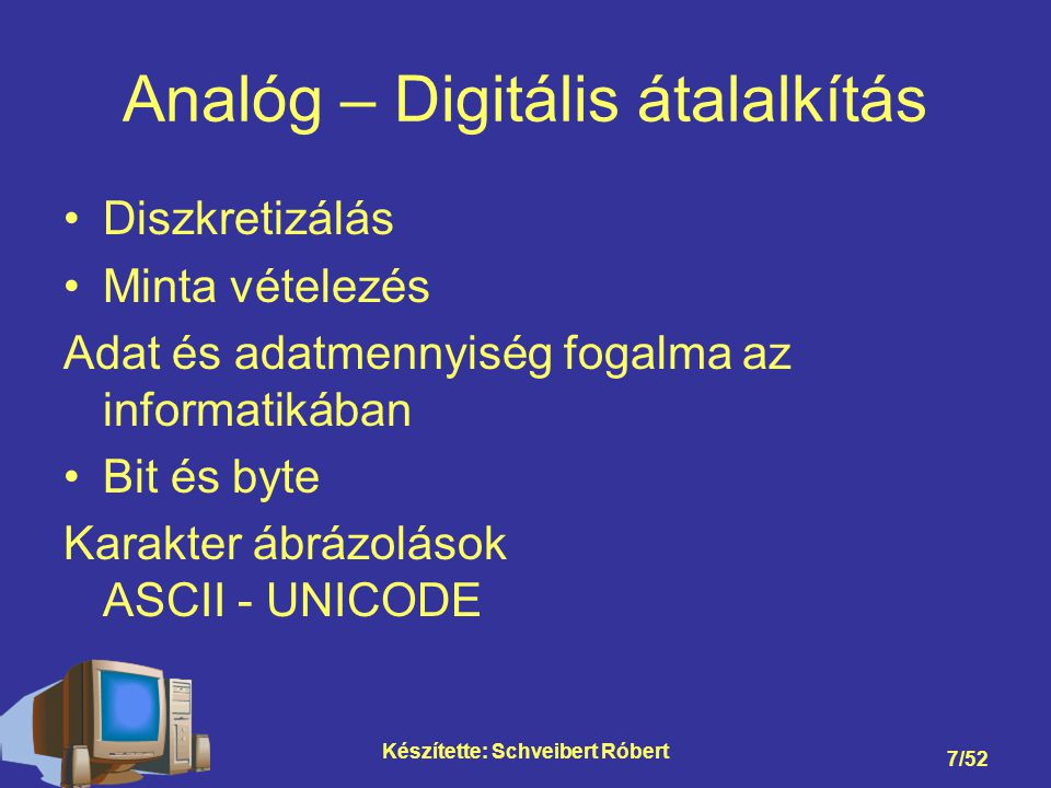 Analóg – Digitális átalalkítás