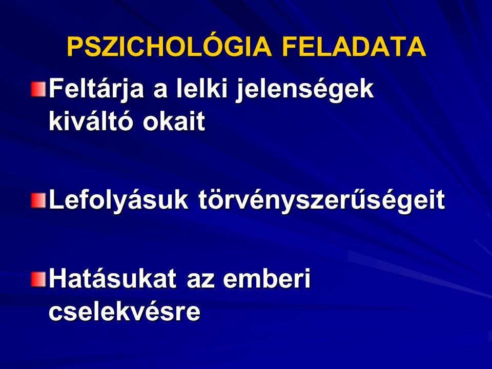 PSZICHOLÓGIA FELADATA
