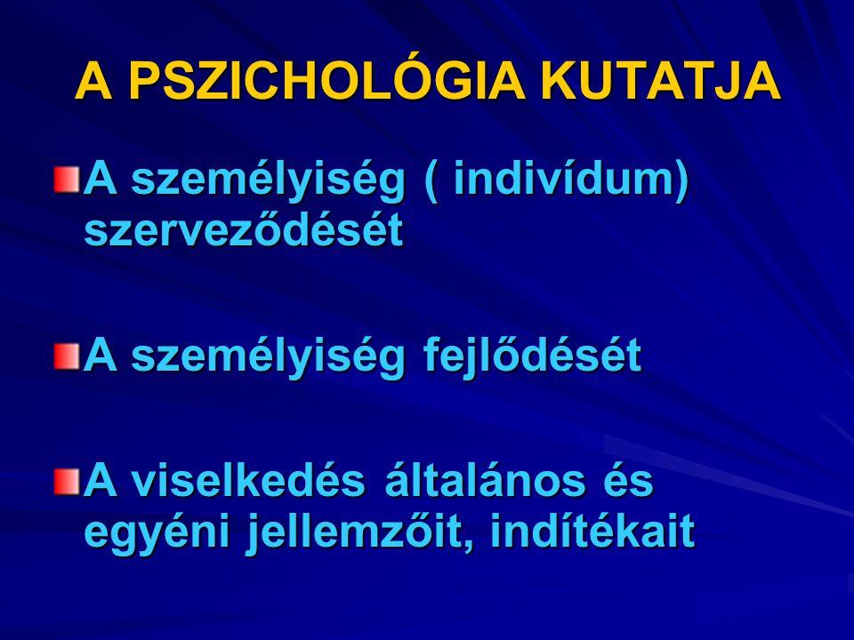 A PSZICHOLÓGIA KUTATJA