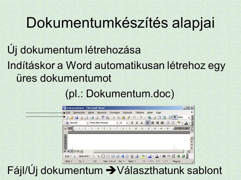 Dokumentumkészítés alapjai