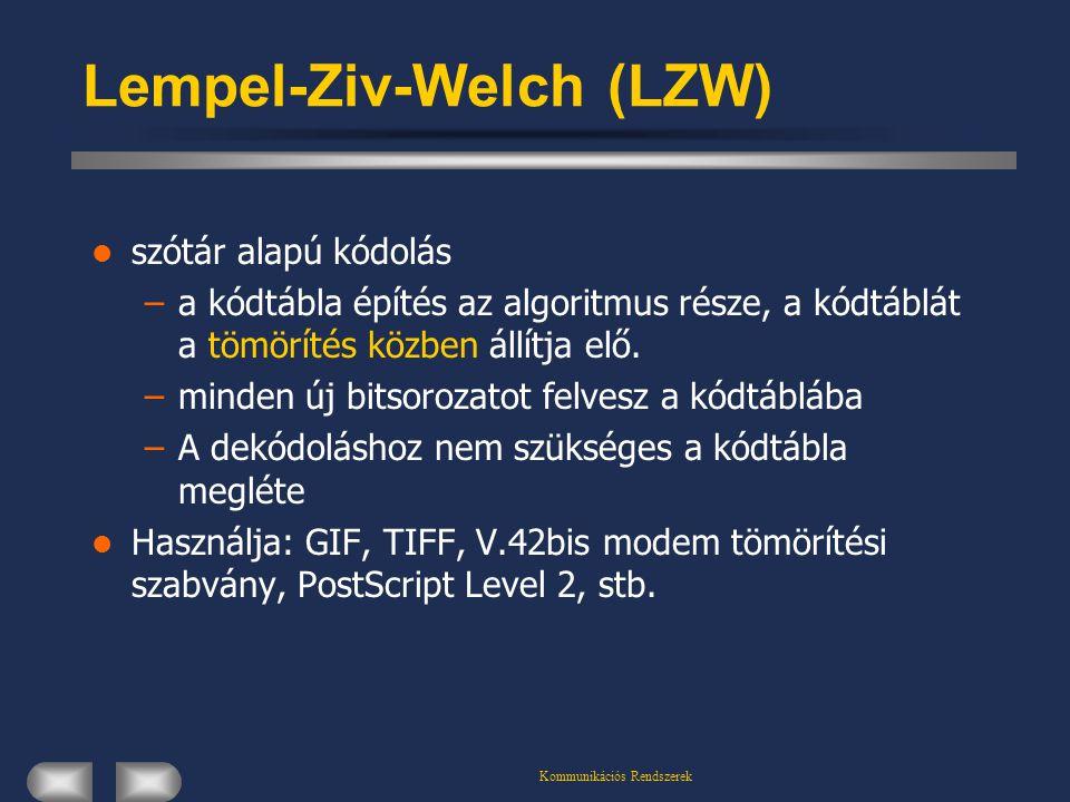 Lempel-Ziv-Welch (LZW)