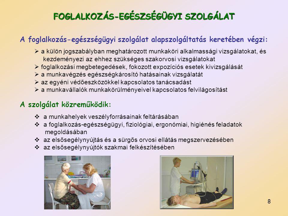 FOGLALKOZÁS-EGÉSZSÉGÜGYI SZOLGÁLAT