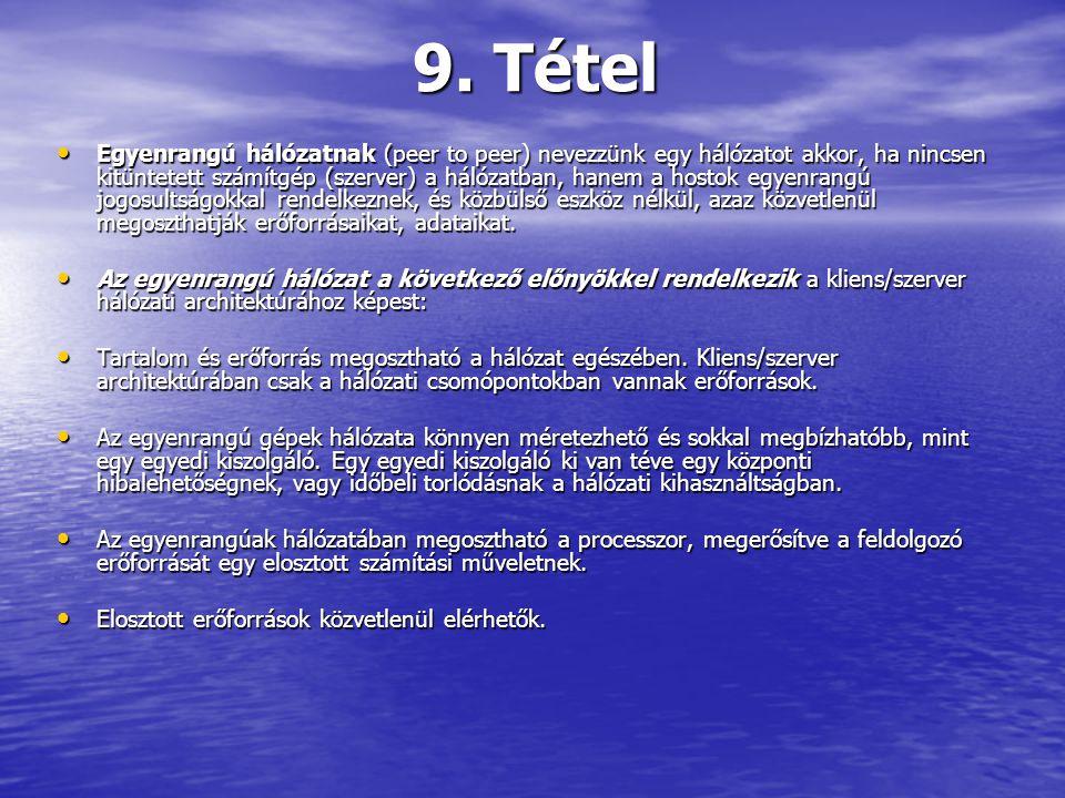 9. Tétel