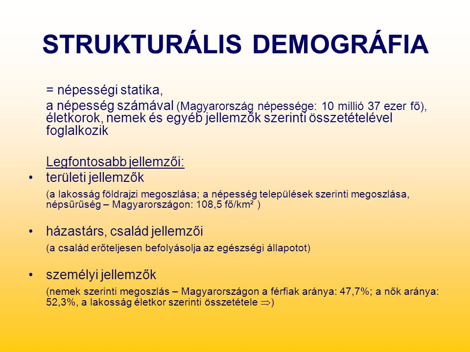 STRUKTURÁLIS DEMOGRÁFIA