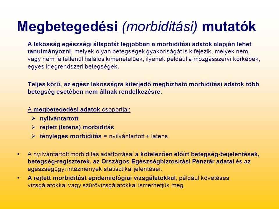 Megbetegedési (morbiditási) mutatók