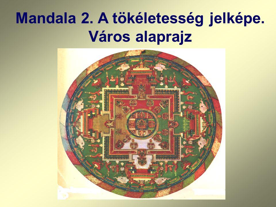 Mandala 2. A tökéletesség jelképe. Város alaprajz
