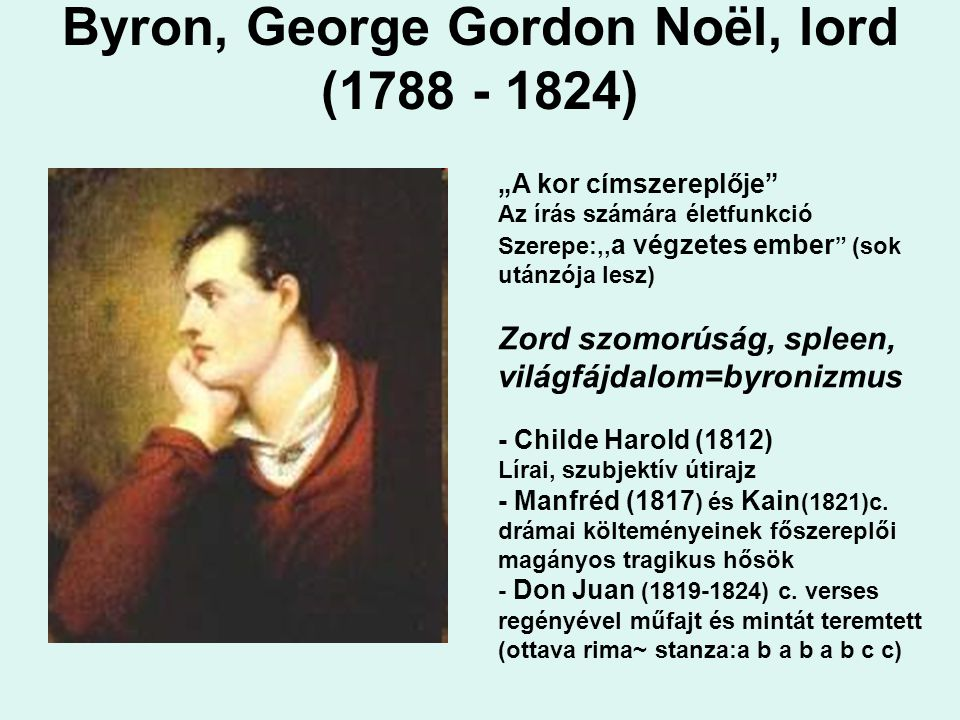 Byron, George Gordon Noël, lord (1788 - 1824)