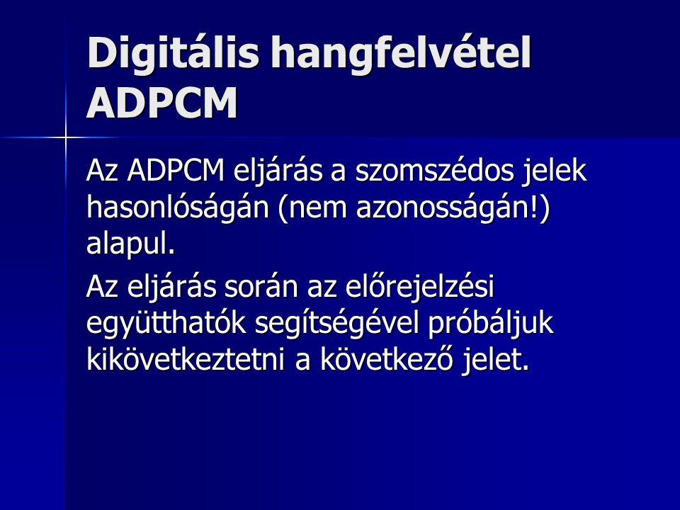 Digitális hangfelvétel ADPCM