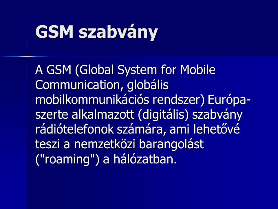 GSM szabvány