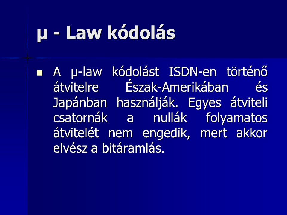 μ - Law kódolás