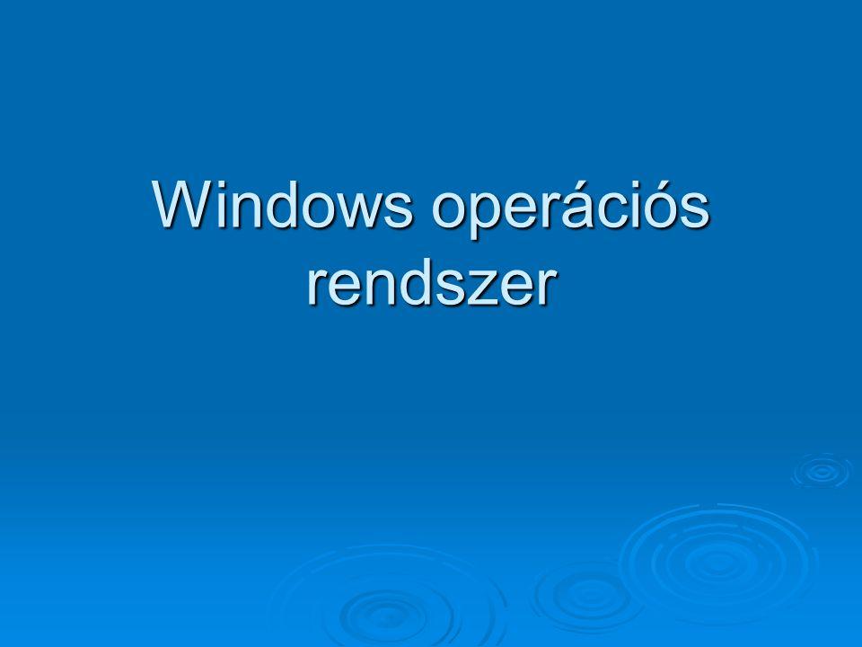 Windows operációs rendszer