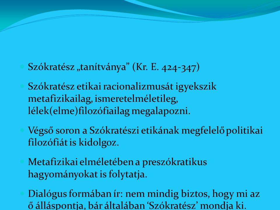 """Szókratész """"tanítványa (Kr. E. 424-347)"""