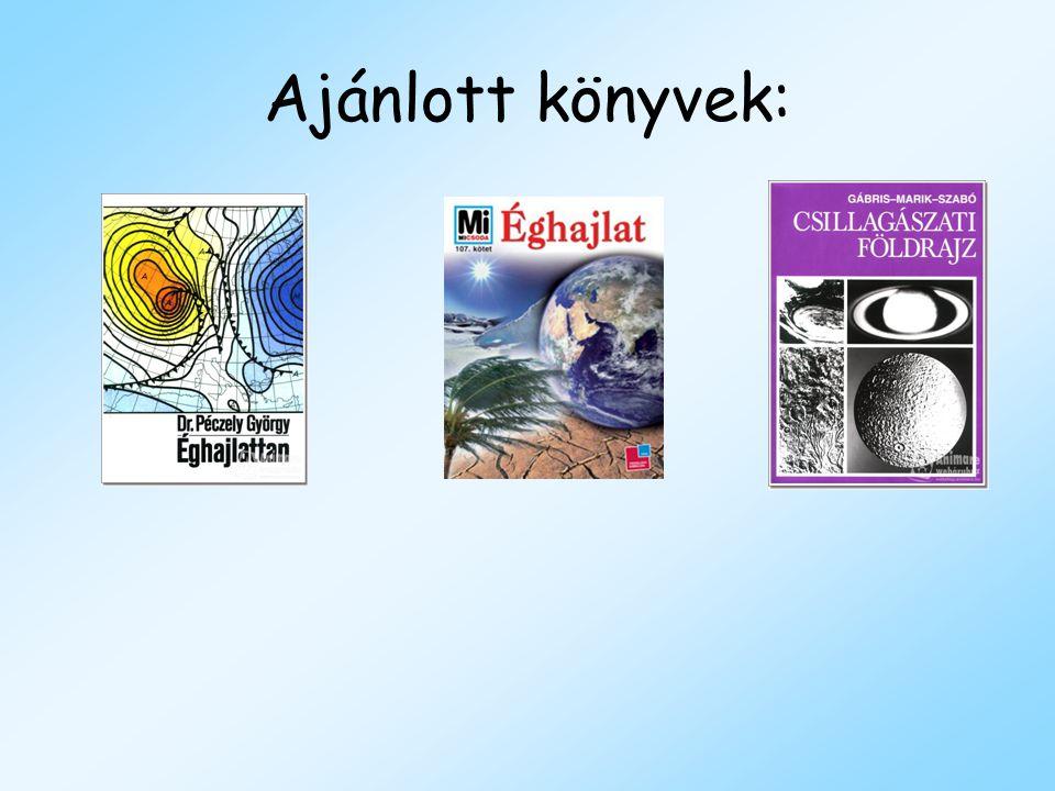 Ajánlott könyvek: