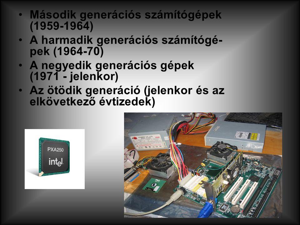 Második generációs számítógépek (1959-1964)