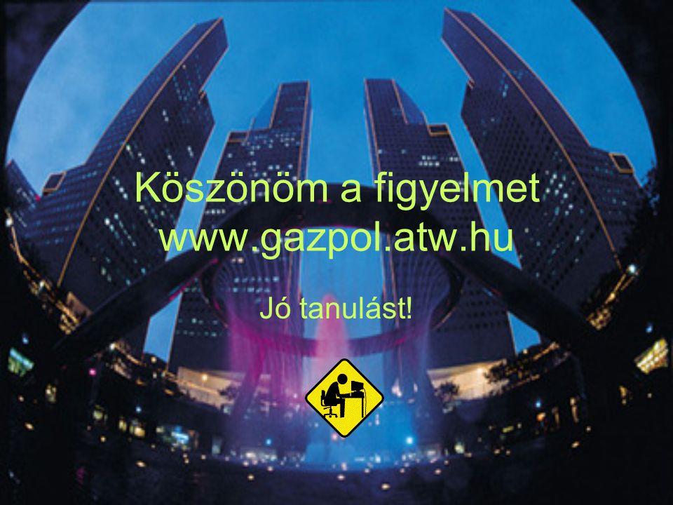 Köszönöm a figyelmet www.gazpol.atw.hu