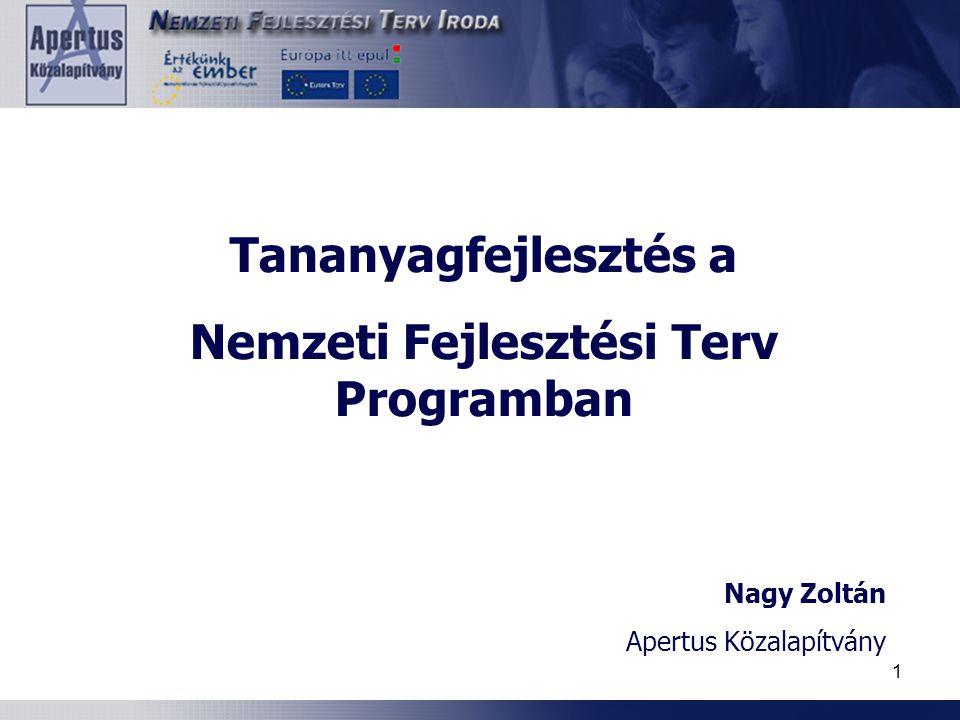 Nemzeti Fejlesztési Terv Programban