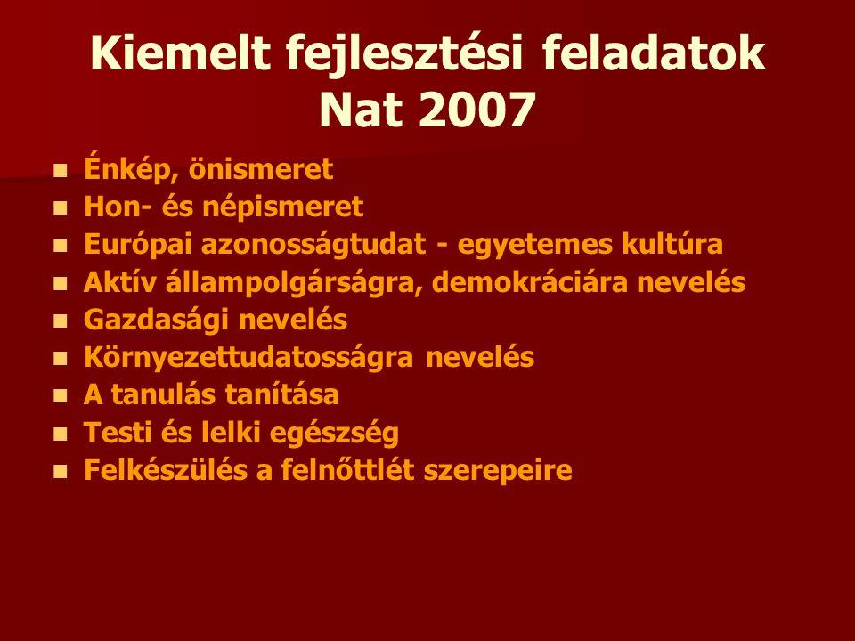 Kiemelt fejlesztési feladatok Nat 2007