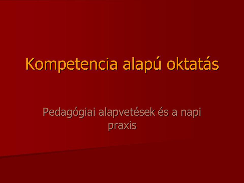 Kompetencia alapú oktatás