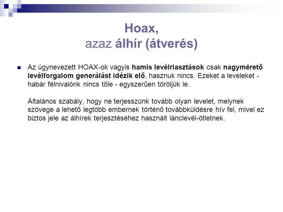 Hoax, azaz álhír (átverés)