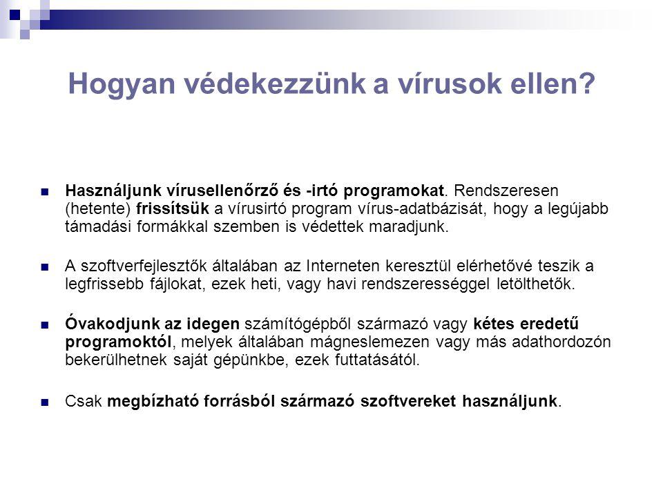 Hogyan védekezzünk a vírusok ellen