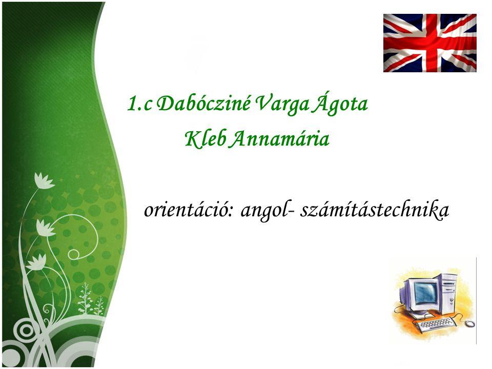 1.c Dabócziné Varga Ágota