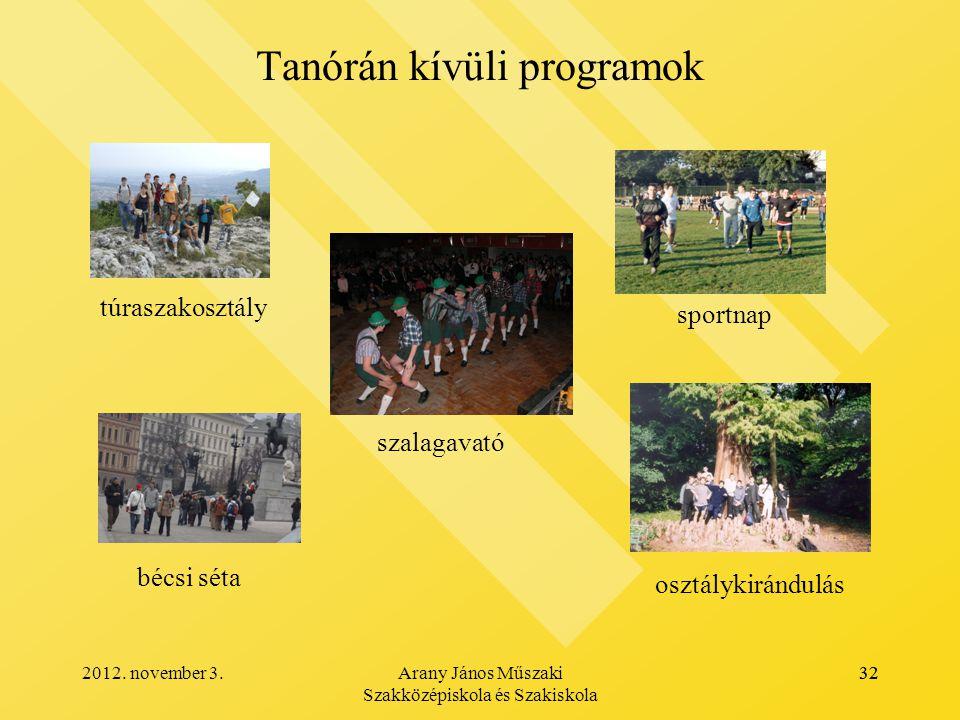 Tanórán kívüli programok