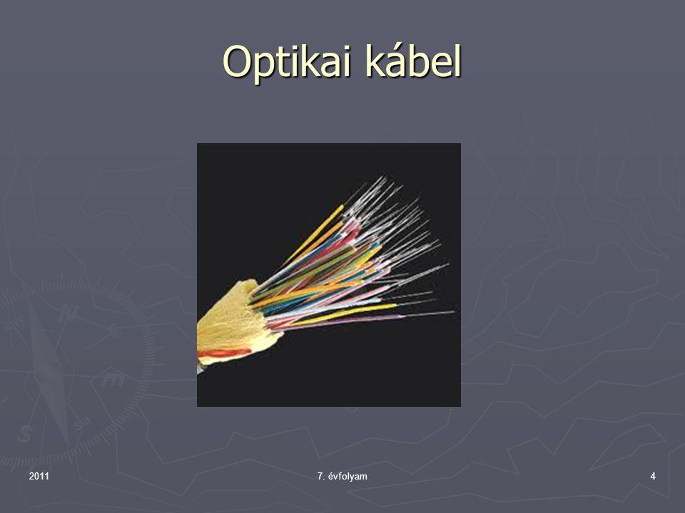 Optikai kábel 2011 7. évfolyam