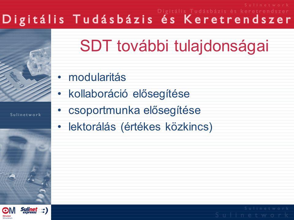 SDT további tulajdonságai