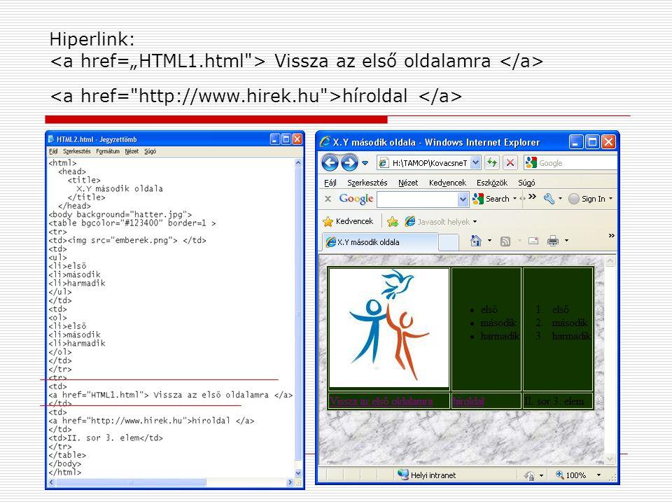 "Hiperlink: <a href=""HTML1"