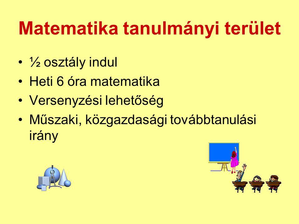 Matematika tanulmányi terület