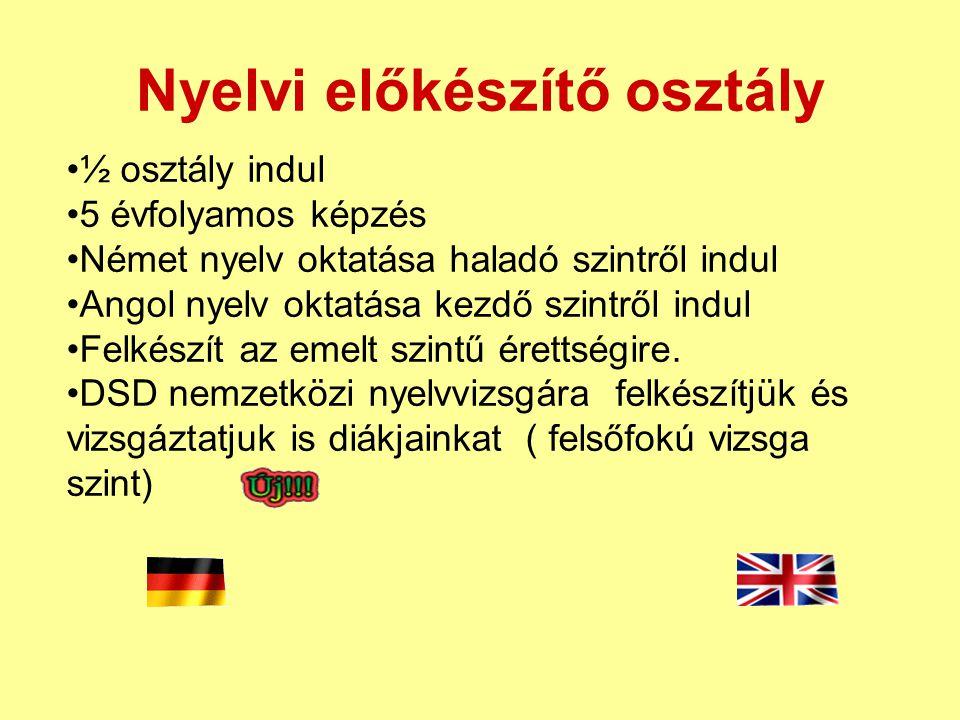 Nyelvi előkészítő osztály