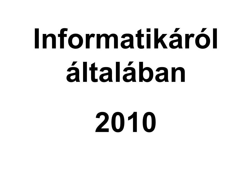 Informatikáról általában