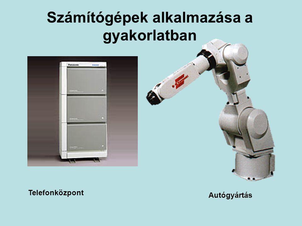 Számítógépek alkalmazása a gyakorlatban