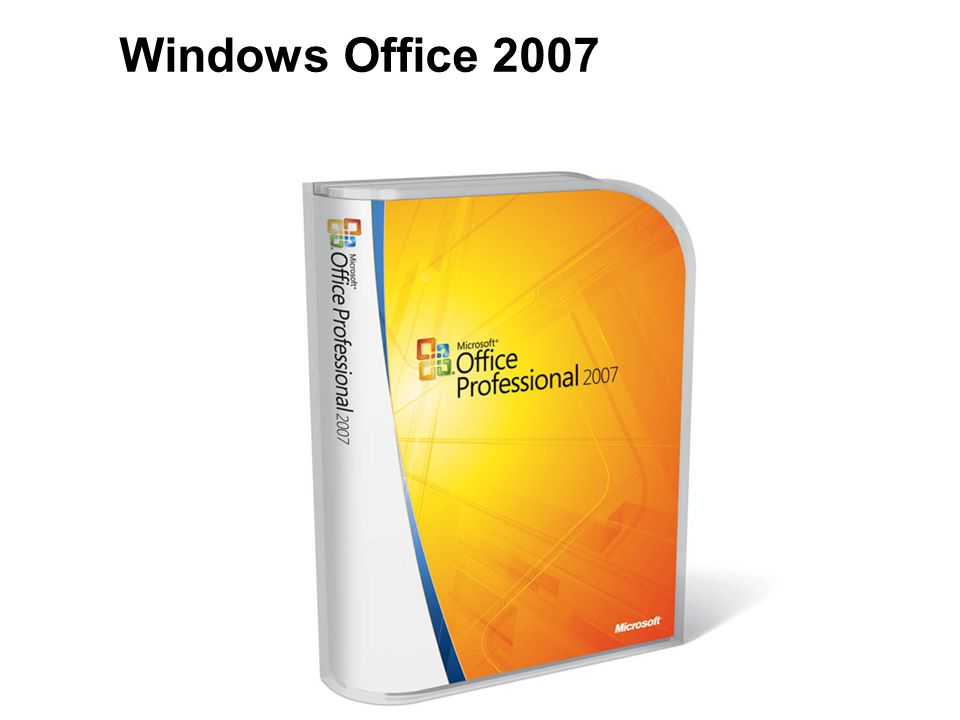 Windows Office 2007