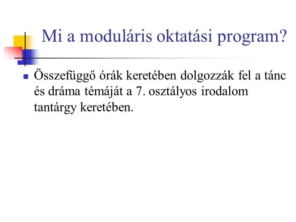 Mi a moduláris oktatási program