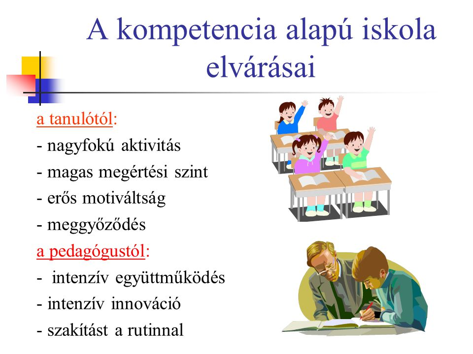 A kompetencia alapú iskola elvárásai