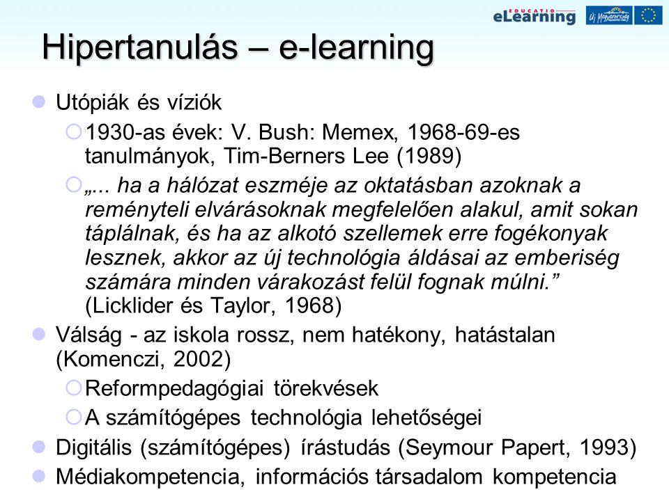 Hipertanulás – e-learning