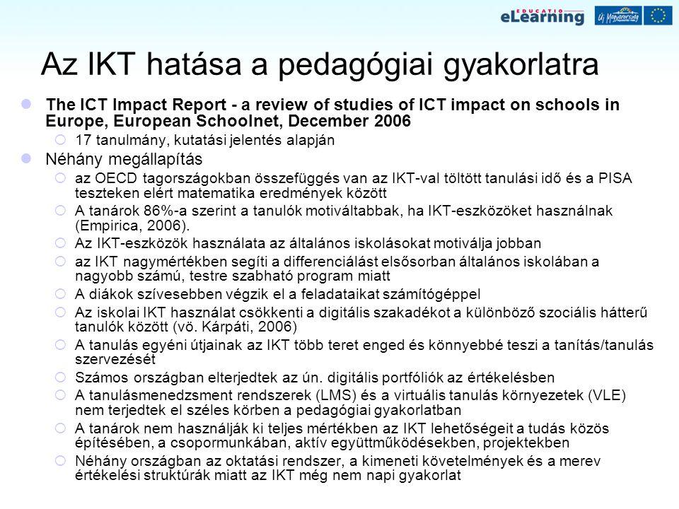 Az IKT hatása a pedagógiai gyakorlatra