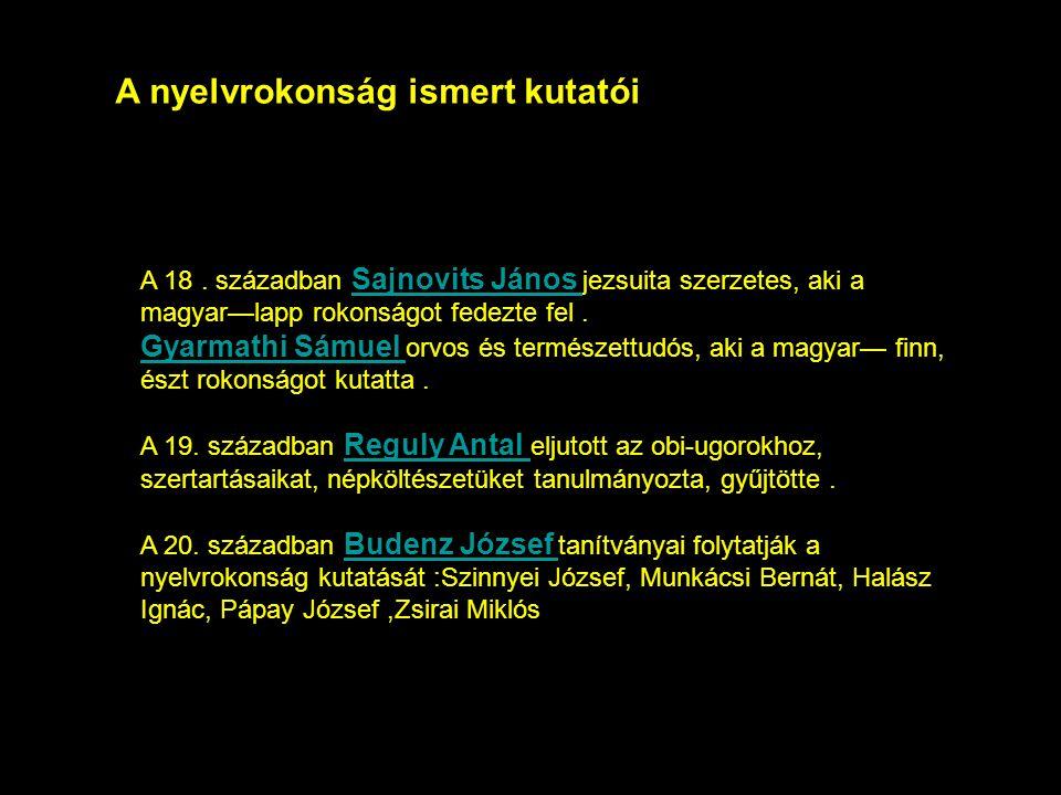 A nyelvrokonság ismert kutatói