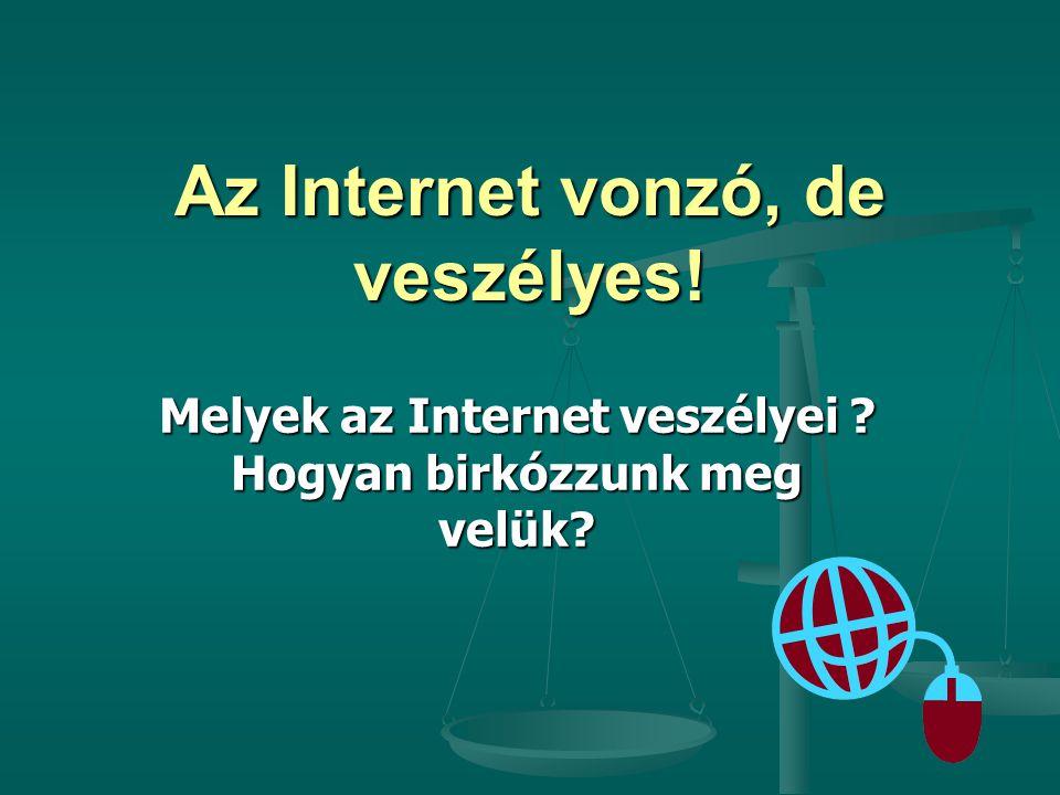 Az Internet vonzó, de veszélyes!
