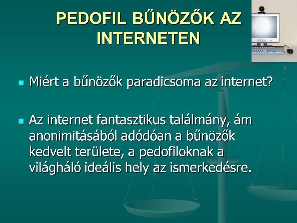 PEDOFIL BŰNÖZŐK AZ INTERNETEN
