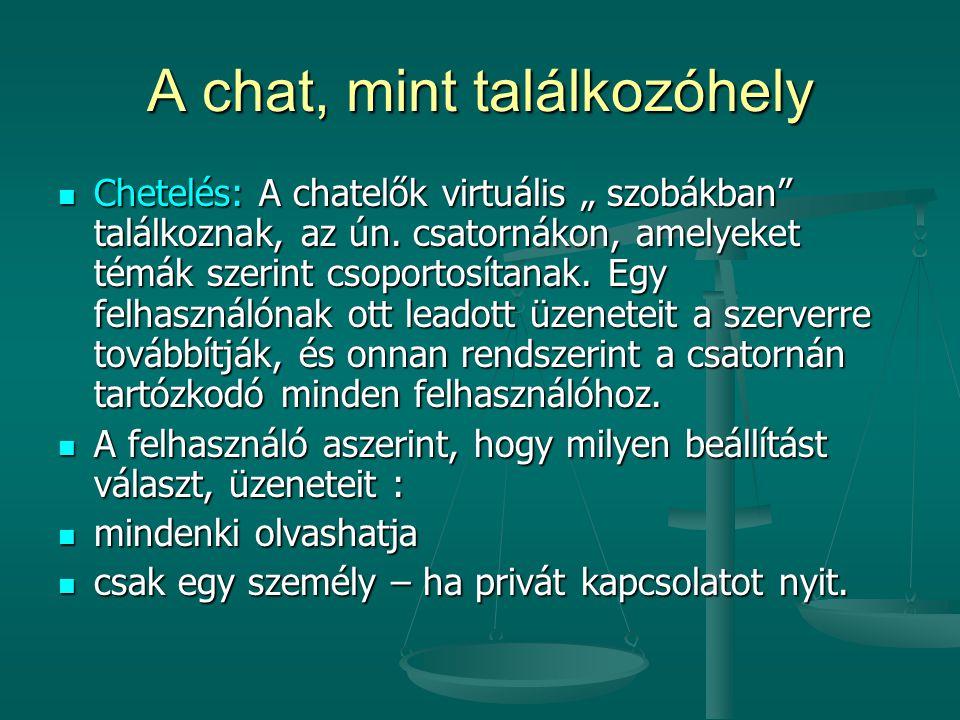 A chat, mint találkozóhely